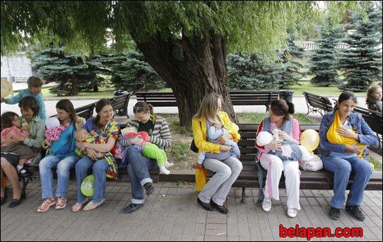 Сеанс одновременного кормления в Минске