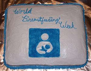 Дружелюбный грудному вскармливанию тортик :)